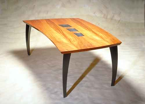Skully A Koa Wood And Bronze Dining Table By Allen Miesner
